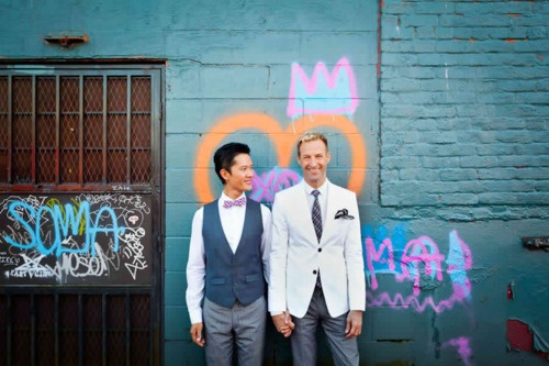 Get inspiration from your surroundings--I love how the graffiti was incorporated in their shoot!!