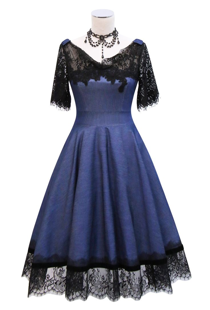 🎀 Kitten D'Amour - Midnight in Paris Dress - new vintage pinup rockabilly - 🎀 Buy Recent Collections: http://www.kittendamour.com/brand_collections 🎀 Buy & Sell Old Collections: https://www.facebook.com/groups/1384135828515551/