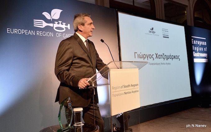 """Απενεμήθη στην Περιφέρεια Νοτίου Αιγαίου ο τίτλος """"European Region of Gastronomy 2019"""""""