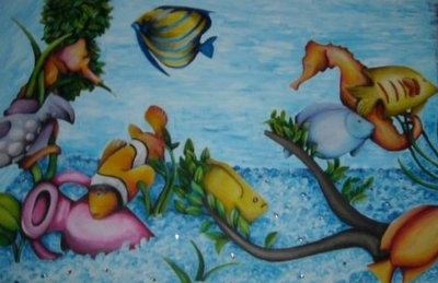 Canvas of an Aquarium with aplications