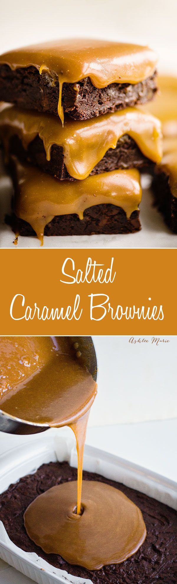 it doesn't get more delicious (or messy) than these salted caramel chocolate brownies