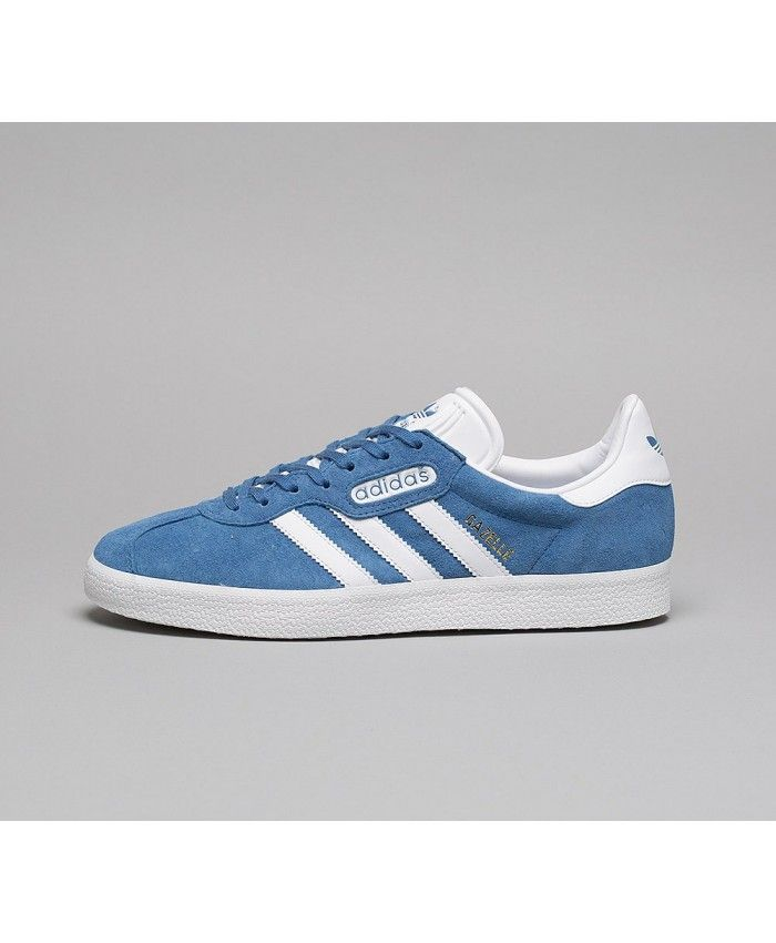 4ef7de0fa6a Adidas Gazelle Super Essential Mens Trainers In Blue White