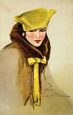 Fashion plate by Marcello Dudovich (1919)