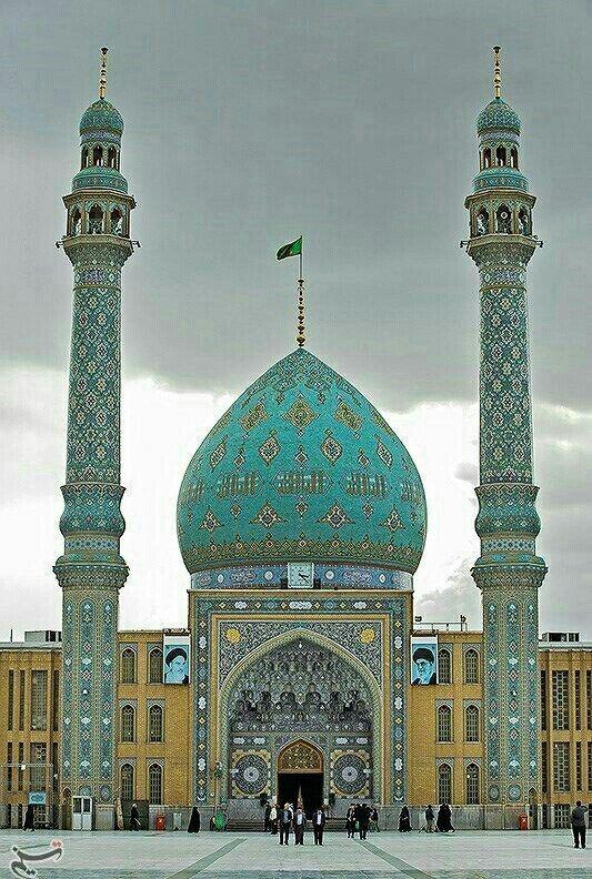 Jamqaram Mosque, Qom, Iran                                                                                                                                                                                 Mais