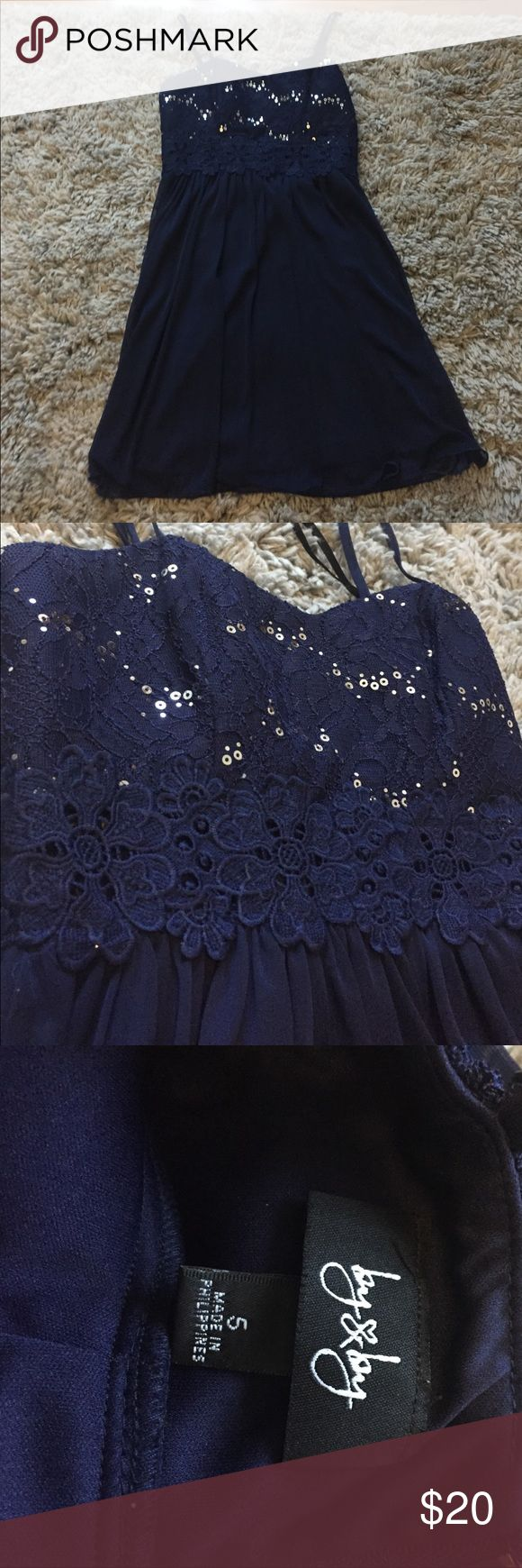 Navy blue dress This was my homecoming dress my sophomore year! I loved it! Dresses Mini