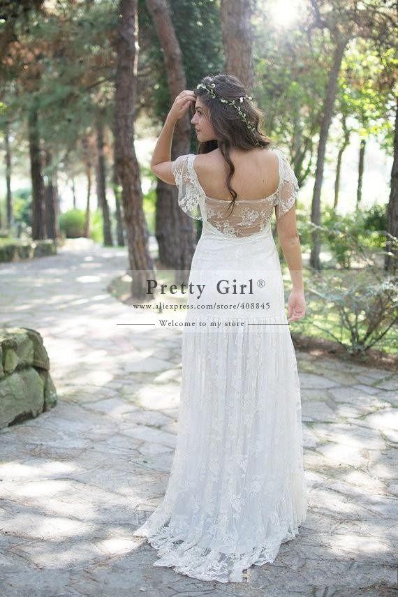 casamento Romantic Lace Boho Wedding Dresses 2015 New Plus Size vestido de noiva Bohemian Fashionable Wedding Gowns Bridal Dress-in Wedding Dresses from Weddings & Events on Aliexpress.com | Alibaba Group