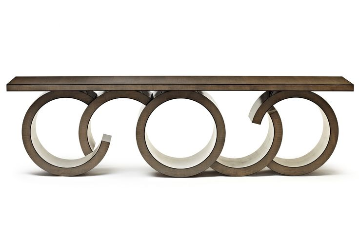DAVIDSON London - The Barthelemy Table in Sycamore Stone and Silver Leaf