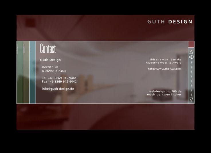 Guth Design website in 2001