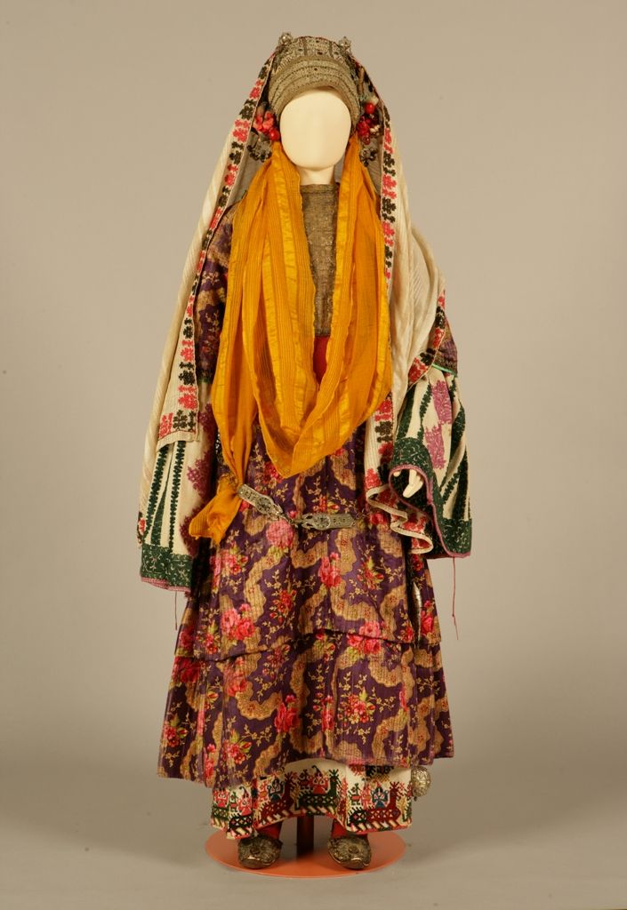 """""""Chryssomandilo"""", bridal and festive costume from Astypalaia (Dodecanese, Greece), belonging to the Palatianou family, c. 1870"""