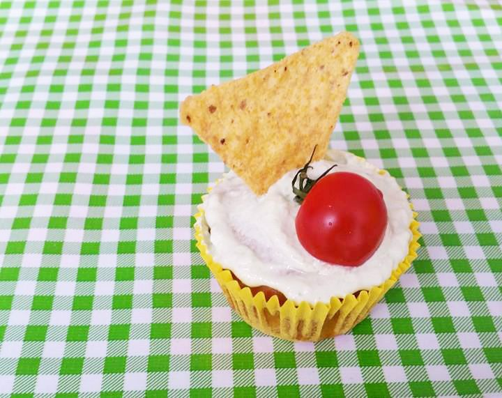 Hartige Mexicaanse Party Maïsupcakes met toefjes Avocadocrème / Corn Cupcakes with Avocado Cream