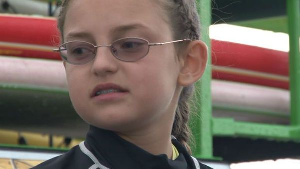 Very touching story. 10-year-old girl with unusual disease embraces life, faces death.