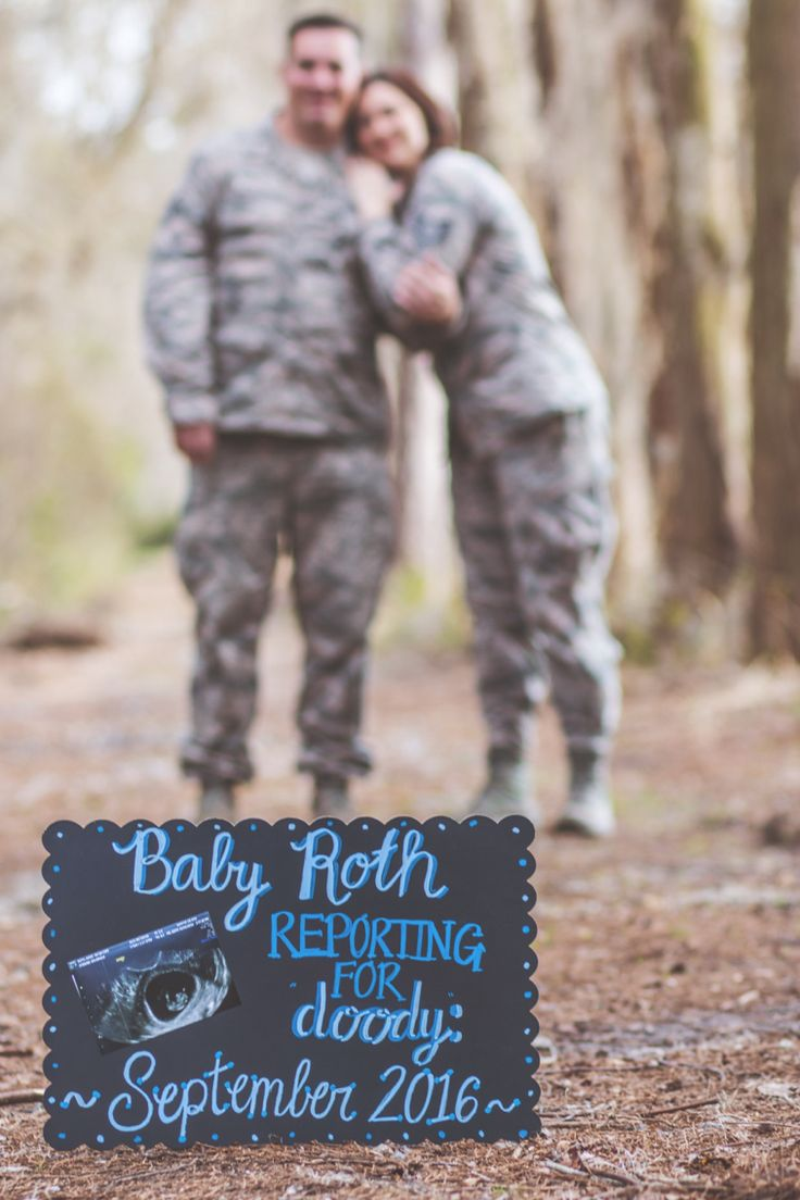 Dual military baby announcement