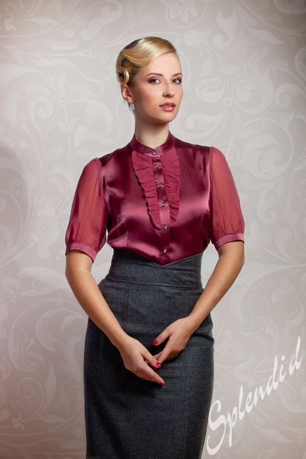 Sexy silk sheer shirt