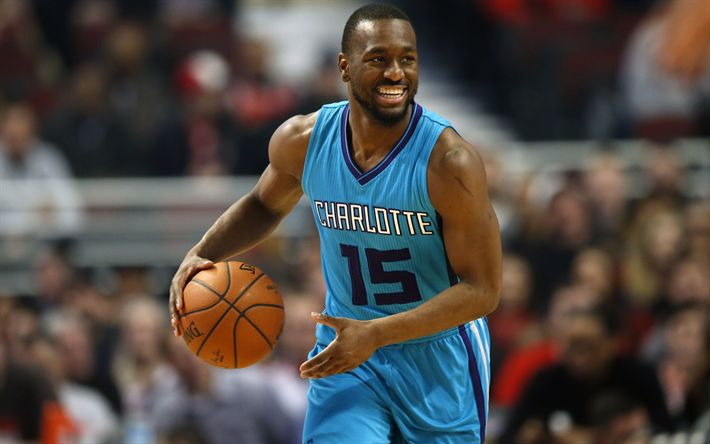 Download wallpapers 4k, Kemba Walker, match, NBA, basketball, Charlotte Hornets, USA, basketball players