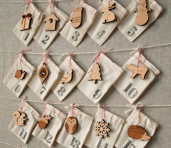 Woodland Ornament Advent Calendar by Peppersprouts