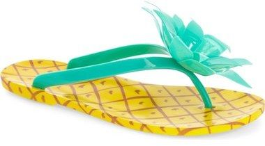 kate spade new york 'flynn' pineapple flip flop (Women) #pineapple