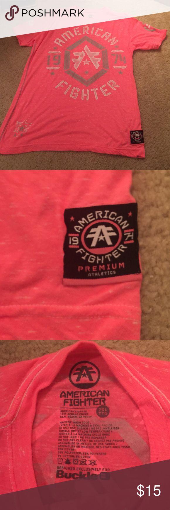 American Fighter 2XL logo neon pink/orange tee American Fighter 2XL logo neon pink/orange tee purchased from Buckle BuckleAmerican Fighter Shirts Tees - Short Sleeve