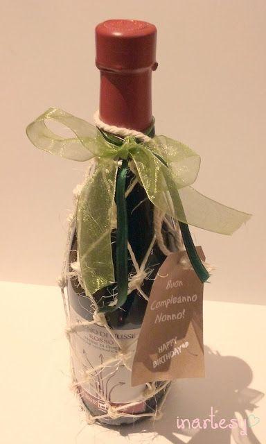 ♡Bottiglia di vino retata ♡Come confezionare una bottiglia di vino per un regalo