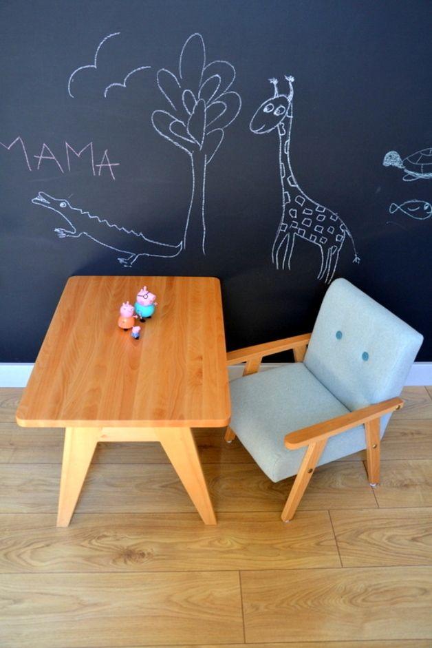 Niedlicher Vintage-Kindersessel, Kinderzimmermöbel, Einrichtung für Kinder / cute kid's armchair made by Modelina-home via DaWanda.com