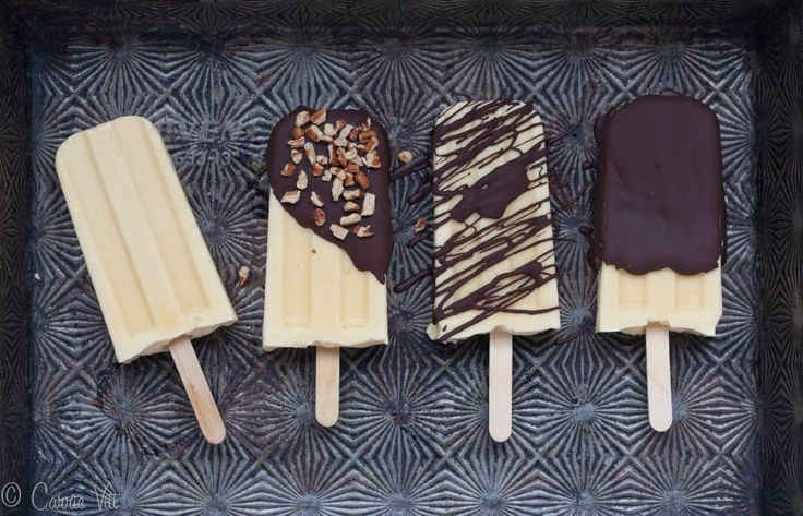 Vanilla Pudding Pops with Homemade Magic Shell | DeliciouslyOrganic ...