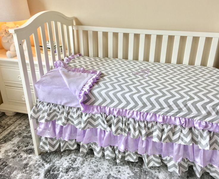 Ritzy Baby Designs, LLC - Lavender and Grey Chevron Baby Blanket, $55.00 (http://www.ritzybaby.com/lavender-and-grey-chevron-baby-blanket/)