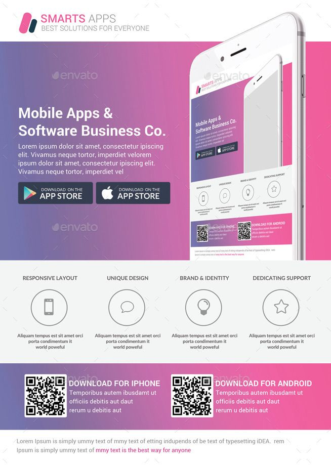 Mobile Apps Promotion Flyers Bundle #Apps, #Mobile, #Promotion