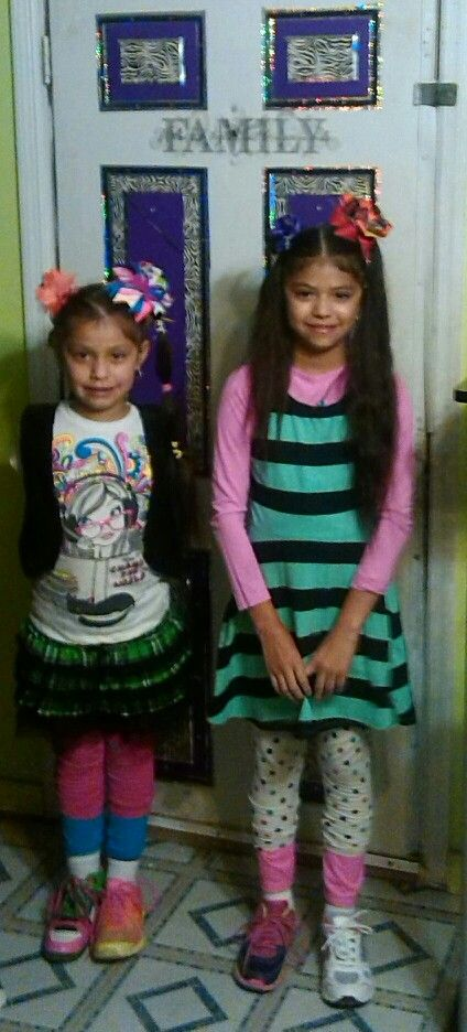 Its mismatched and crazy day at school today my girls went all out!! :);)
