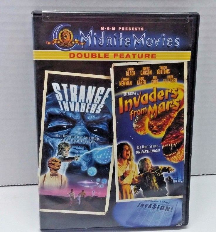 Strange Invaders, Invaders From Mars, Midnite Movies Double Feature, Horror DVD