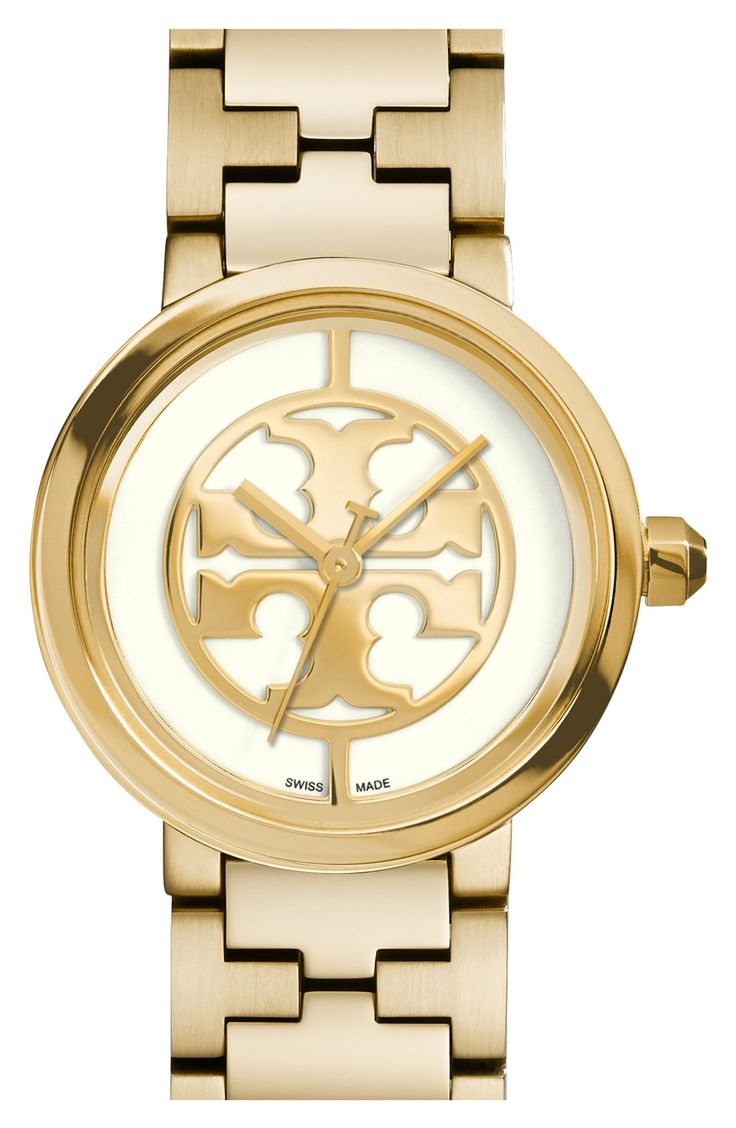 Lusting for this shiny gold Tory Burch watch.
