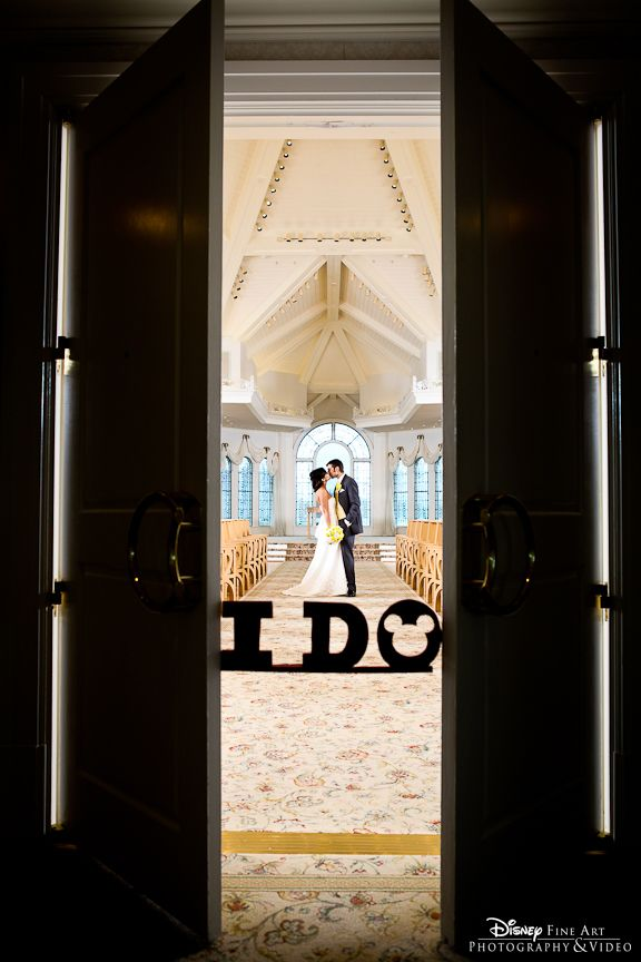 """""""I Do"""" with a Hidden Mickey touch at Disney's Wedding Pavilion"""