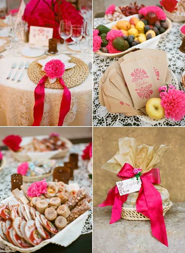mexican wedding favors brown paper printouts