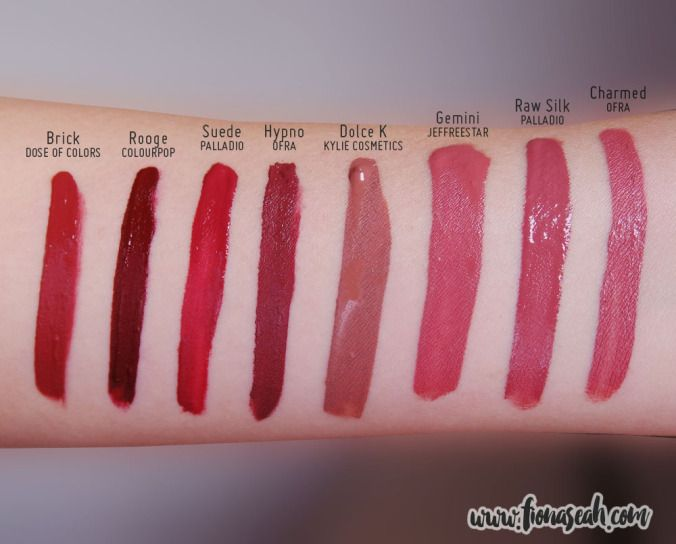 Brick - Dose of Colors = Suede - Palladio $7; Gemini - Jeffree Star & Charmed - OFRA = Raw Silk - Palladio $7 #dupe #lipstick