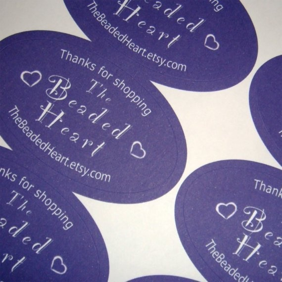 60 Sticky Labels  Oval Packaging stickers by DayzeeLoveDesigns, £12.00