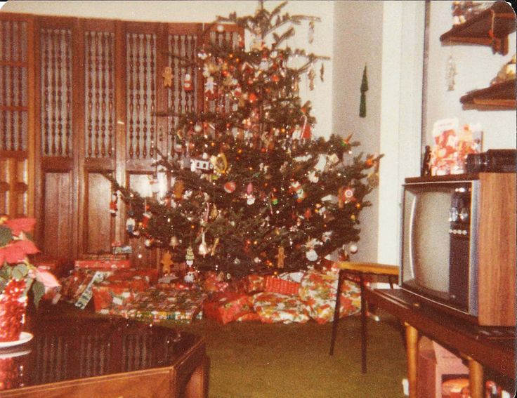70s christmas photos | Douglas Fir? A Noble? Who knows? Nobody cared, it was a Christmas ...