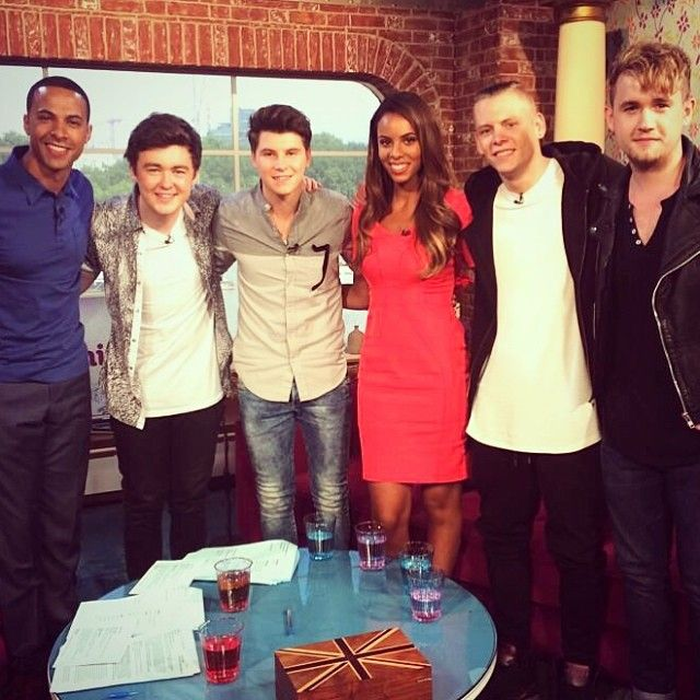 Marvin and Rochelle Humes with Rixton