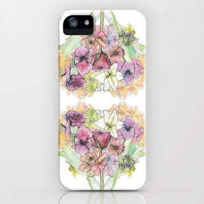floral love iPhone Case by Joyce Cuda - $35.00
