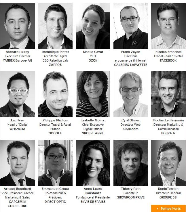 Les speakers des plénières - Edition 2013