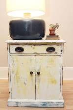 Distressed Side Table Revamp   17 DIY Bedroom Furniture Makeover For Minimalists