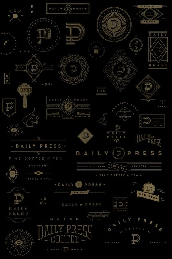 Daily Press Identity on Behance — Designspiration