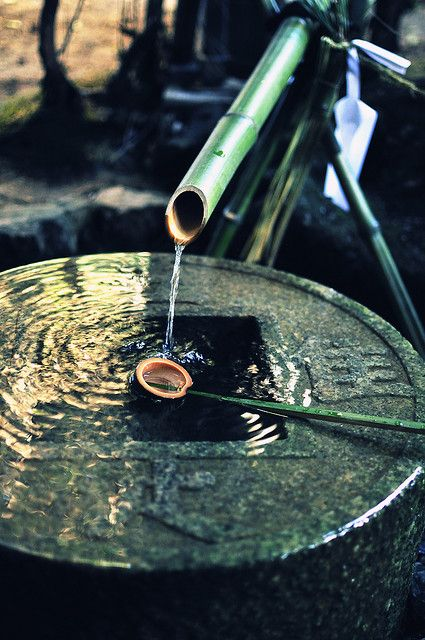Water fountain at Japanese temple