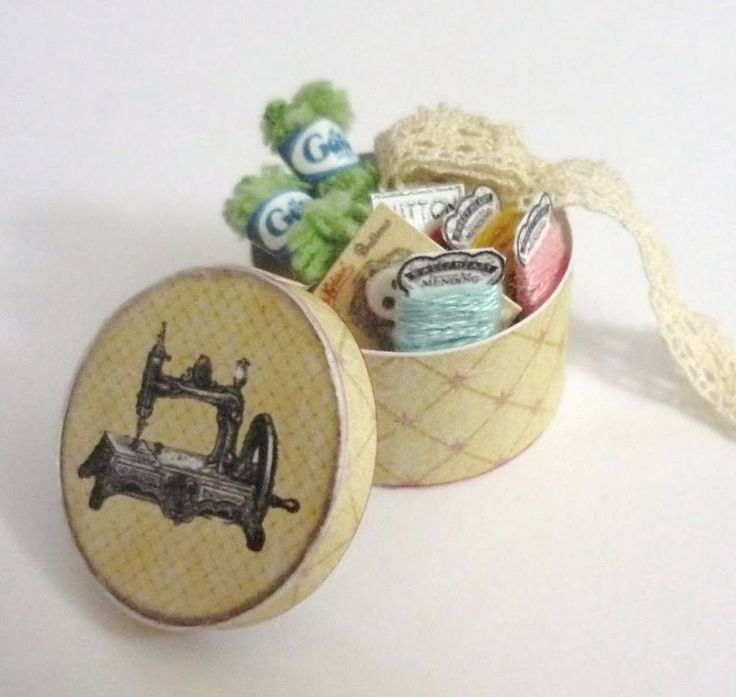Miniature Printables - Sewing box.