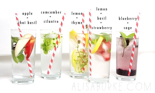 alisaburke- Great infused water combinations for summer!