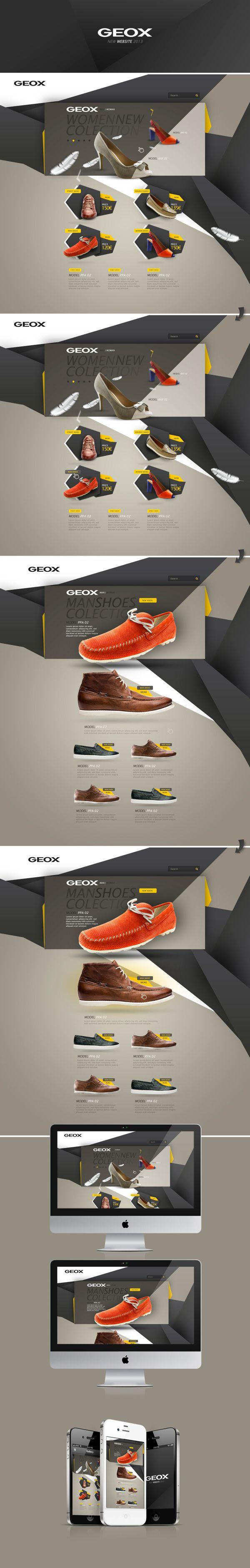 GEOX website by João Alberto, via Behance