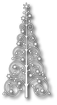 Snowflake Christmas Tree die