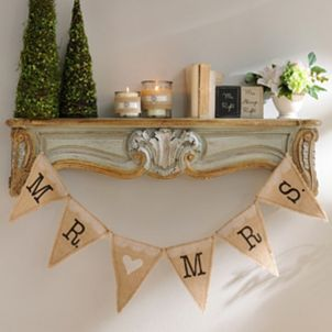 Mr. & Mrs. Burlap Pennant Banners! <3
