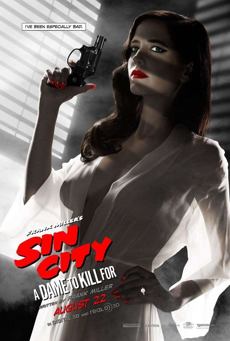 The MPAA banned poster for Sin City: A Dame to Kill For featuring the gorgeous Eva Green