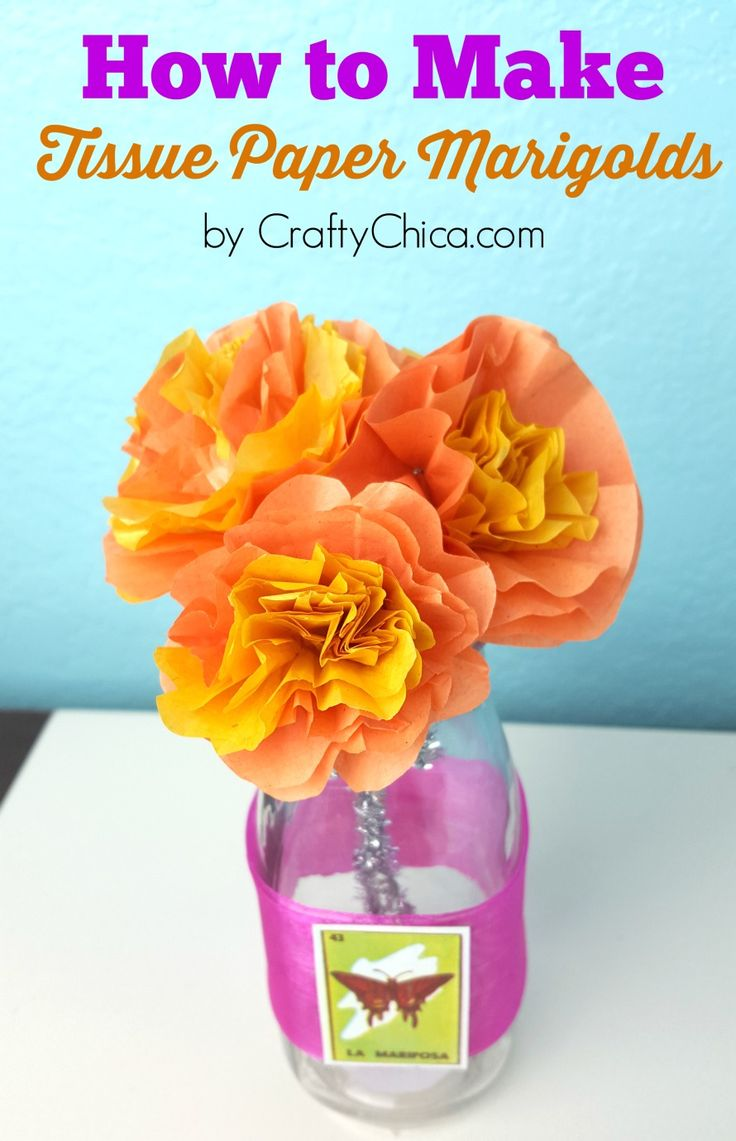 The 9 best images about crafts on pinterest tissue paper maya and for this tissue paper marigolds diy tutorial i set aside my dslr camera to try mightylinksfo