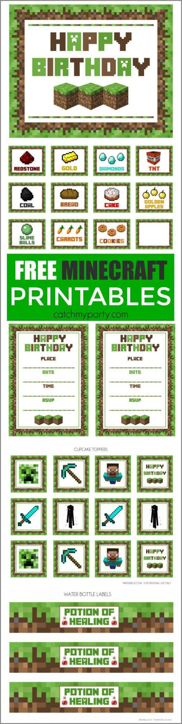 58 Best Minecraft Images On Pinterest Birthday Celebrations