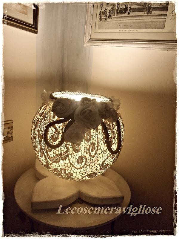 lecosemeravigliose Shabby e country chic passions: lampade handmade shabby e country chic con amore