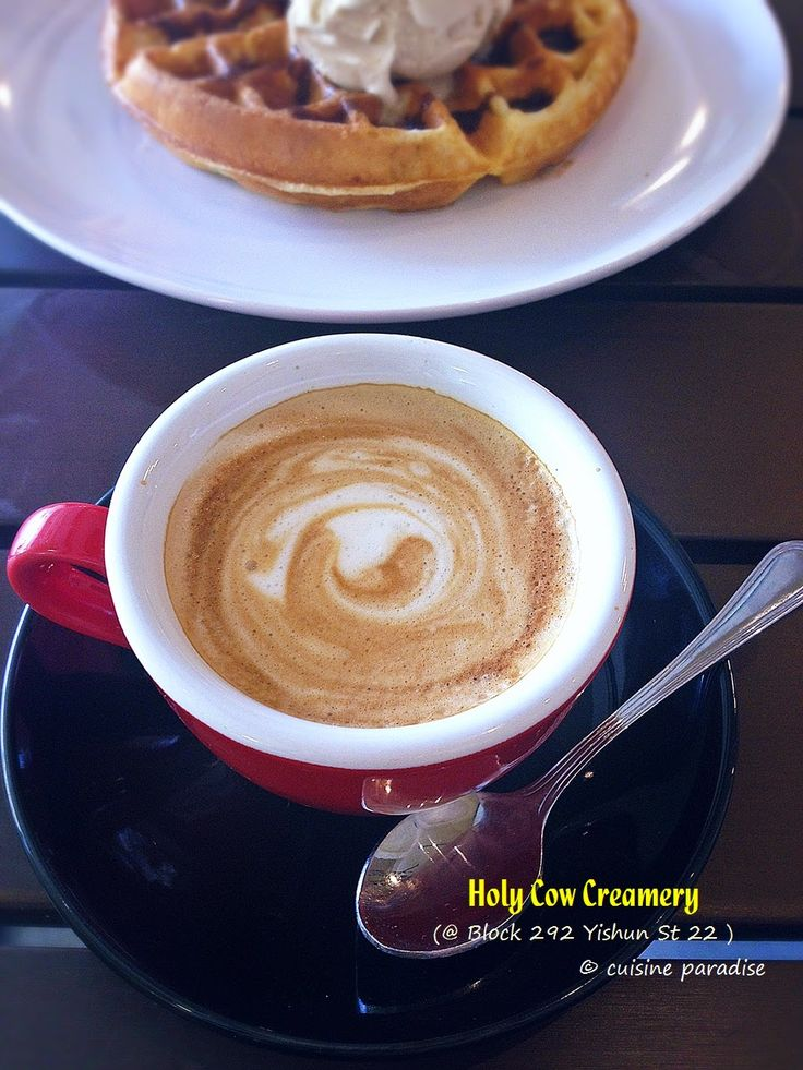 Cuisine Paradise | Singapore Food Blog | Recipes, Reviews And Travel: [New Cafes in Yishun & Sembawang] Holy Cow Creamery, Mootime, RoyceMary Cafe and The Daily Scoop - Cappuccino @ SG$4.50 from Holy Cow Creamery
